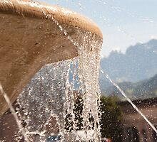 Fountain, Train Station Plaza,  Bolzano/Bozen by L Lee McIntyre