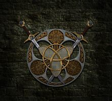 Celtic Shield and Swords by Packrat