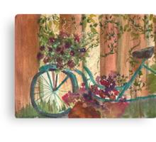 Bike and Ivy Canvas Print