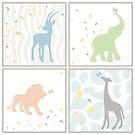 Animals for Baby Boy by Lauren Eldridge-Murray