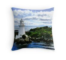 Maquarie Heads Lighthouse - Tasmania Throw Pillow