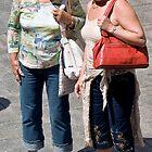 two women talking by DJohnW