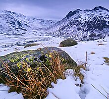 Great Langdale in Winter - The Lake District by Dave Lawrance