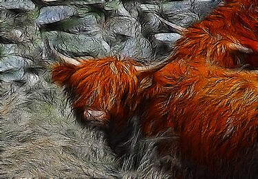 Fractalius Bulls #2 by Trevor Kersley