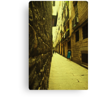 I dreamt about a narrow street where i could find you. You were not there. Instead i found myself. Canvas Print