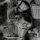 Old Vegetable Baskets by Karen Martin