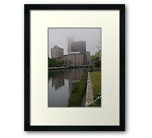 Foggy morning in Providence Framed Print