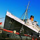 Queen Mary Ship (Long Beach) by Anusheel Verma