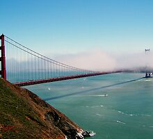 Golden Gate Bridge - Marin Headlands by Michael Lehman