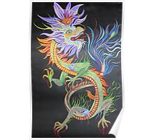 Chinese Fire Dragon Poster