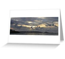 Pano of a sunset in the St-Jean-de-Luz bay Greeting Card
