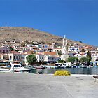 Halki Harbour Panorama by Tom Gomez