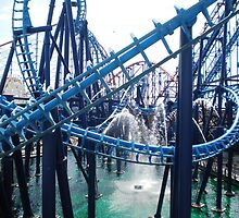 Roller coasters - Blackpool Pleasure Beach by Naomi Seville