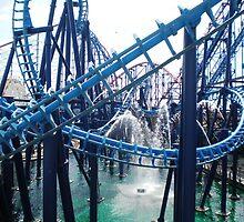 Roller coasters - Blackpool Pleasure Beach by Naomi Seville