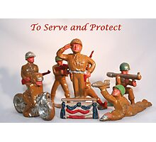 To Serve and Protect Photographic Print