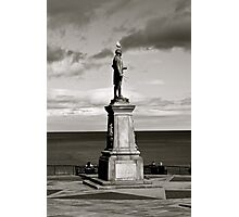 Captain Cook Statue black and white (whitby) Photographic Print