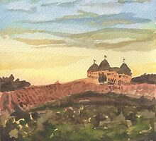 Chateau Elan - Vineyard Landscape  by Pamela Hirsch