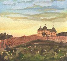 Chateau Elan - Vineyard Landscape  by Pamela Hirsch