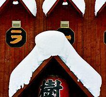 Snow on Gables, Niseko, Hokkaido, Japan by Mike Banks