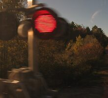 A Blurry Train signal without blurry backround by Eric Sanford