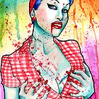Zombie Doll Watercolor Painting by MissCarissaRose