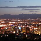 SLC at Night by Chloe  Garfield