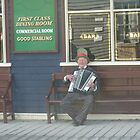 Musican Outside The United States Hotel - Sovereign Hill by judygal