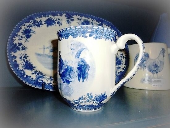 Blue & White pattern -Cockerell by EdsMum