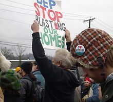 Stop Blasting Our Homes (Late 2009, West Virginia Protest) by Cari Moore