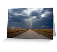 Lightning Strike in the Great Plains (Bartlesville, Oklahoma, USA) Greeting Card