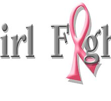 Girl Fight for Breast Cancer Awareness Pink Ribbon by OOPSY