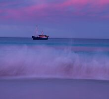Fishing Boat slow shutter at Eddystone Point by andychiz
