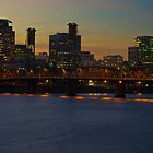 Sunset Over Portland by John Behrends