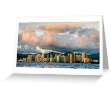 Honolulu Skyline Greeting Card