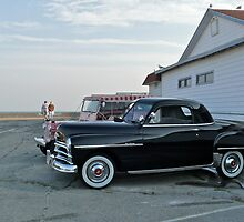Classic 50's Plymouth Coupe at the Beach by Jack McCabe