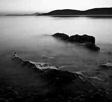 Tralee Bay, Monochrome by JOHN MACBRAYNE