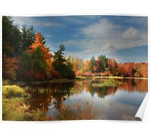 Autumn Reflections ~ Lake Jean Poster