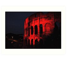 ROME - Colosseum in red - October 10th 2010 - # 1 Art Print
