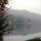 A foggy morning at Lake of Orta by sstarlightss