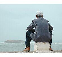 Man and sea Photographic Print