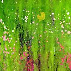 Pink Flowers in Meadow by Kathie Nichols