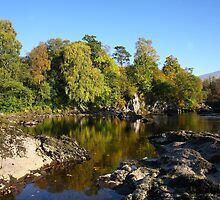 Autumn on the River Lochy. by John Cameron