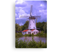 A Dutch Mill in HDR Canvas Print