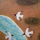 Seabirds over Snowhill Creek by Amanda White