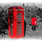 Old Red Phone &amp; Post Box by hootonles