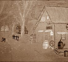 Sepia Sketch... Free State, South Africa by Qnita
