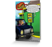 McMetaphysics Fast But Psychic Food by Londons Times Cartoons Greeting Card