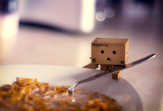 Cereal for Danbo?? by Lady-Tori