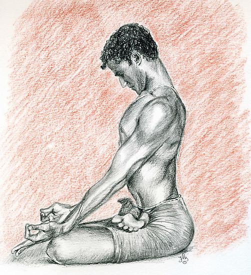 R. Sharath-Padmasana by Francesca Romana Brogani