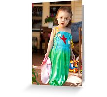 Rosalie in the Rainbow Jumpsuit Greeting Card